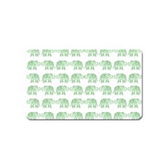 Indian Elephant Pattern Magnet (name Card) by Valentinaart