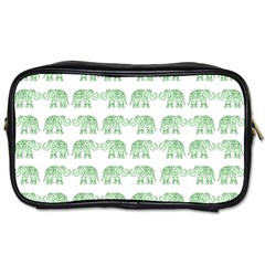 Indian Elephant Pattern Toiletries Bags 2 Side by Valentinaart