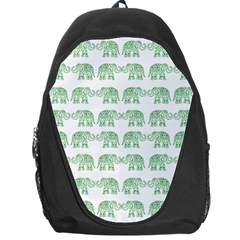 Indian Elephant Pattern Backpack Bag by Valentinaart