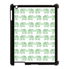 Indian Elephant Pattern Apple Ipad 3/4 Case (black) by Valentinaart