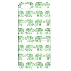 Indian Elephant Pattern Apple Iphone 5 Hardshell Case With Stand by Valentinaart