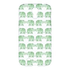 Indian Elephant Pattern Samsung Galaxy S4 I9500/i9505 Hardshell Case by Valentinaart