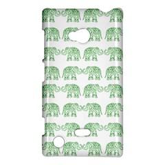 Indian Elephant Pattern Nokia Lumia 720 by Valentinaart
