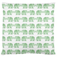 Indian Elephant Pattern Large Flano Cushion Case (two Sides) by Valentinaart