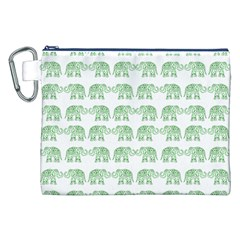 Indian Elephant Pattern Canvas Cosmetic Bag (xxl) by Valentinaart