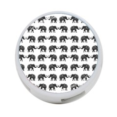 Indian Elephant Pattern 4 Port Usb Hub (two Sides)  by Valentinaart