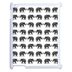 Indian Elephant Pattern Apple Ipad 2 Case (white) by Valentinaart