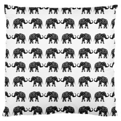 Indian Elephant Pattern Large Cushion Case (one Side) by Valentinaart