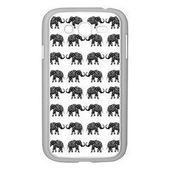 Indian Elephant Pattern Samsung Galaxy Grand Duos I9082 Case (white) by Valentinaart
