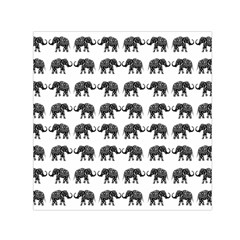 Indian Elephant Pattern Small Satin Scarf (square) by Valentinaart