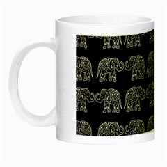 Indian Elephant Pattern Night Luminous Mugs by Valentinaart