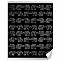 Indian Elephant Pattern Canvas 18  X 24   by Valentinaart
