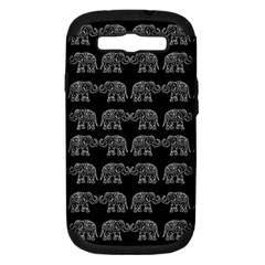 Indian Elephant Pattern Samsung Galaxy S Iii Hardshell Case (pc+silicone) by Valentinaart