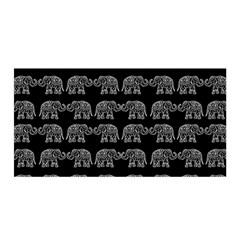Indian Elephant Pattern Satin Wrap by Valentinaart