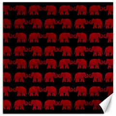 Indian Elephant Pattern Canvas 16  X 16   by Valentinaart