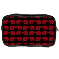 Indian Elephant Pattern Toiletries Bags 2 Side by Valentinaart