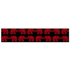 Indian Elephant Pattern Flano Scarf (small) by Valentinaart