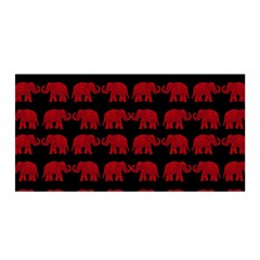 Indian Elephant Pattern Satin Wrap by Valentinaart