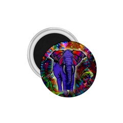 Abstract Elephant With Butterfly Ears Colorful Galaxy 1 75  Magnets by EDDArt