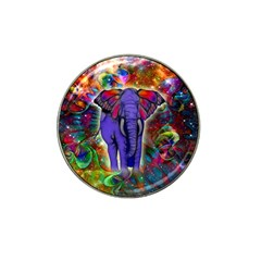 Abstract Elephant With Butterfly Ears Colorful Galaxy Hat Clip Ball Marker by EDDArt
