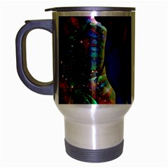 Abstract Elephant With Butterfly Ears Colorful Galaxy Travel Mug (silver Gray) by EDDArt