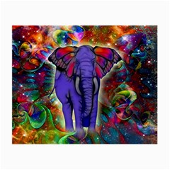 Abstract Elephant With Butterfly Ears Colorful Galaxy Small Glasses Cloth by EDDArt