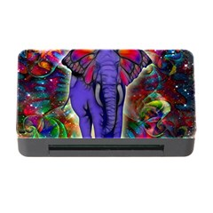 Abstract Elephant With Butterfly Ears Colorful Galaxy Memory Card Reader With Cf by EDDArt
