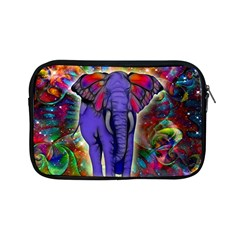 Abstract Elephant With Butterfly Ears Colorful Galaxy Apple Ipad Mini Zipper Cases by EDDArt