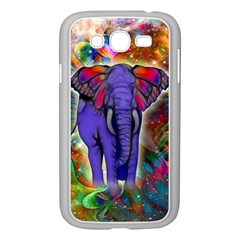 Abstract Elephant With Butterfly Ears Colorful Galaxy Samsung Galaxy Grand Duos I9082 Case (white) by EDDArt