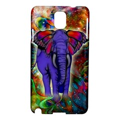 Abstract Elephant With Butterfly Ears Colorful Galaxy Samsung Galaxy Note 3 N9005 Hardshell Case by EDDArt