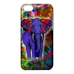 Abstract Elephant With Butterfly Ears Colorful Galaxy Apple Iphone 5c Hardshell Case by EDDArt