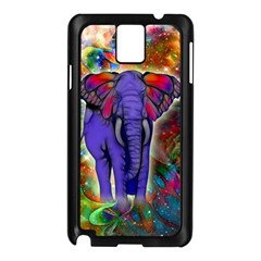 Abstract Elephant With Butterfly Ears Colorful Galaxy Samsung Galaxy Note 3 N9005 Case (black) by EDDArt