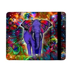 Abstract Elephant With Butterfly Ears Colorful Galaxy Samsung Galaxy Tab Pro 8 4  Flip Case by EDDArt