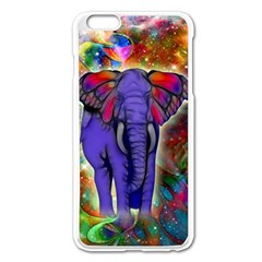 Abstract Elephant With Butterfly Ears Colorful Galaxy Apple Iphone 6 Plus/6s Plus Enamel White Case by EDDArt