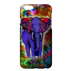 Abstract Elephant With Butterfly Ears Colorful Galaxy Apple Iphone 6 Plus/6s Plus Hardshell Case by EDDArt