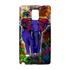 Abstract Elephant With Butterfly Ears Colorful Galaxy Samsung Galaxy Note 4 Hardshell Case by EDDArt