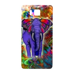 Abstract Elephant With Butterfly Ears Colorful Galaxy Samsung Galaxy Alpha Hardshell Back Case by EDDArt