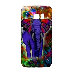 Abstract Elephant With Butterfly Ears Colorful Galaxy Galaxy S6 Edge by EDDArt