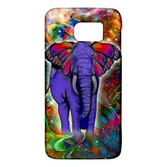 Abstract Elephant With Butterfly Ears Colorful Galaxy Galaxy S6 by EDDArt