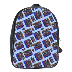Abstract Pattern Seamless Artwork School Bags (xl)