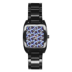 Abstract Pattern Seamless Artwork Stainless Steel Barrel Watch by Amaryn4rt