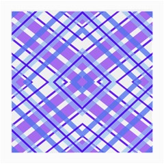 Geometric Plaid Pale Purple Blue Medium Glasses Cloth by Amaryn4rt