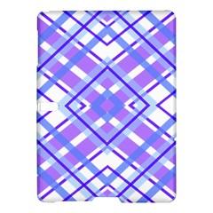Geometric Plaid Pale Purple Blue Samsung Galaxy Tab S (10 5 ) Hardshell Case  by Amaryn4rt