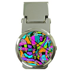 Abstract Art Squiggly Loops Multicolored Money Clip Watches by EDDArt
