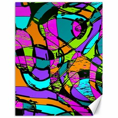 Abstract Art Squiggly Loops Multicolored Canvas 18  X 24   by EDDArt