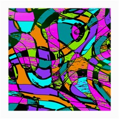 Abstract Art Squiggly Loops Multicolored Medium Glasses Cloth (2 Side) by EDDArt