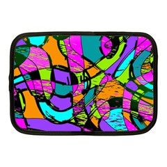Abstract Art Squiggly Loops Multicolored Netbook Case (medium)  by EDDArt
