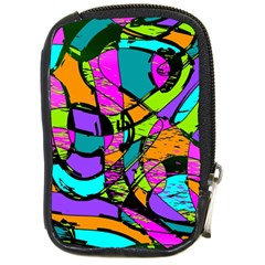 Abstract Art Squiggly Loops Multicolored Compact Camera Cases by EDDArt