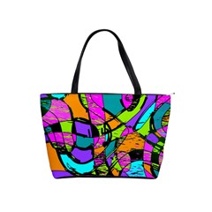 Abstract Art Squiggly Loops Multicolored Shoulder Handbags by EDDArt