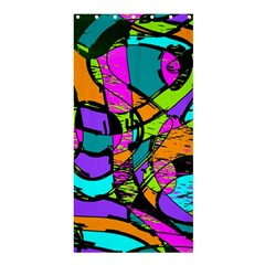 Abstract Art Squiggly Loops Multicolored Shower Curtain 36  X 72  (stall)  by EDDArt